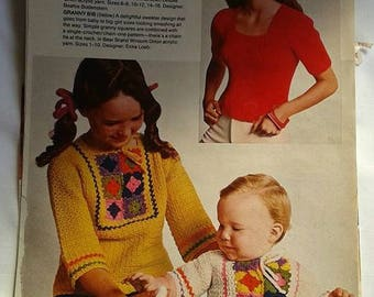 Instructions (pattern) / how to make / Knitting / Crocheting / Vintage instructions / 1970's