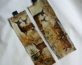 Deer in the Woods Bookmark / Fabric Bookmark / Deer / Bookmark