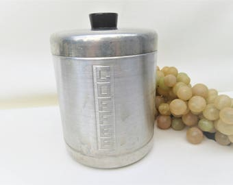 Vintage Coffee Canister | Aluminum Canister | Kitchen Canister | Coffee Storage