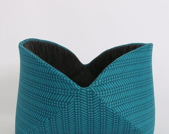 Jumbo bed for large cats - the Turquoise and Black Chevron Cat Canoe - Made in USA and ready to ship
