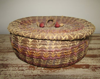 Antique Sweetgrass Sewing Basket