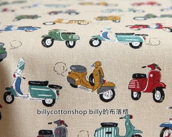 M59_55 - scooter fabrics - cotton linen - ( 3 color to choose) in Half Yard