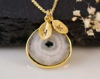 Solar Quartz Necklace - Personalized Jewelry For Mom - Birthstone Necklace - Gold Necklace - Personalized Jewelry