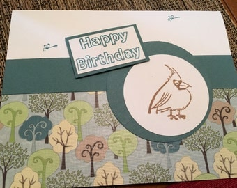 Birthday card - Bird design