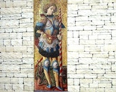 St. George Tapestry, Medieval Dollhouse Miniature 1/12 Scale, Hand Made