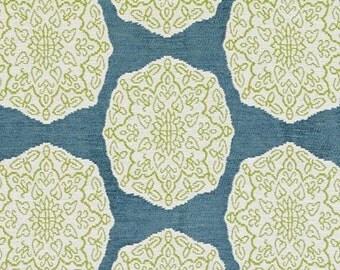 Designer Pillow Cover - Lumbar, 16 x 16, 18 x 18, 20 x 20, 22 x 22, Euro JR Medallion Aqua/Green