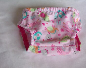 Pink Dinosaur Flannel Diaper Cover (3 - 6 Months)