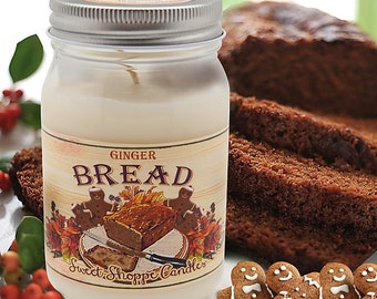 16 ounce Gingerbread Jar Candle