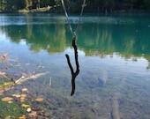 Keuka Lake Necklace Silver Finger Lake Necklace