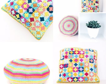 Crochet Pillows Pattern Pack - PDF Instant Download