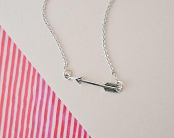 Silver Arrow Necklace, Arrow Charm Jewellery, Arrow Jewellery, Arrow Necklace, Arrow Choker, Stocking Filler, Teenager Gift, Arrow Pendant