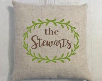 Custom Name Home Pillow Gift for New House