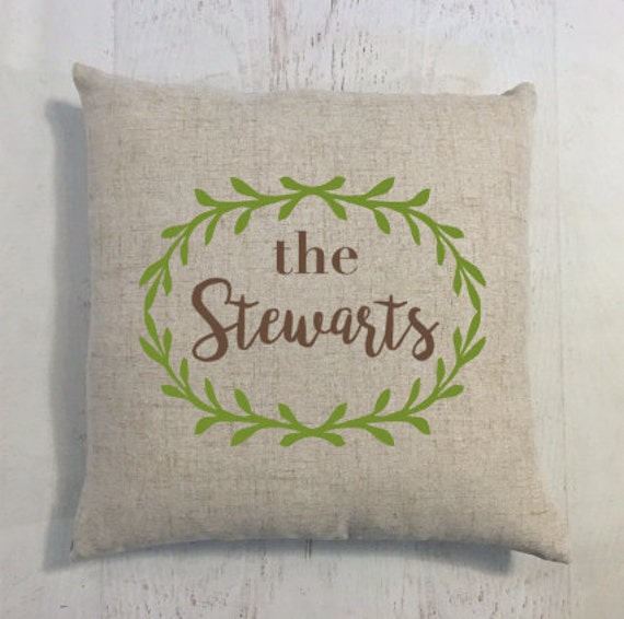Custom Name Home Pillow Gift for New House