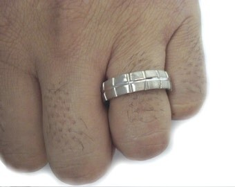 White Gold Wedding Band, Gold Wedding Ring, White Gold Band, 6mm Band, White Gold Engagement Ring