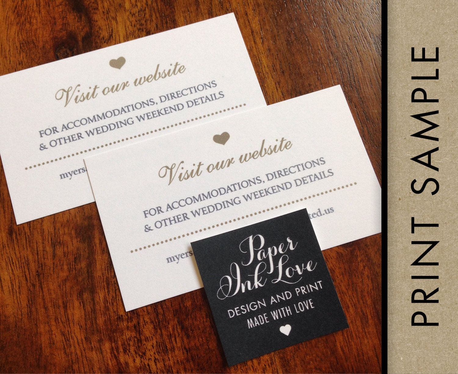 Wedding Gift Card Registry: Wedding Website Cards, Enclosure Cards, Wedding Hashtag