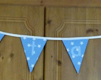 custom bunting - custom name decor - nursery bunting -  personalised bunting - name fabric bunting - nursery bunting - letter bunting