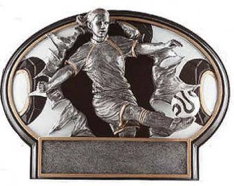 SOCCER - Burst Thru Resin Recognition Award Trophy, Boy or Girl