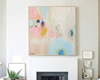 art painting,, abstract painting ,, rosa creme ,,wall art ,,canvas painting,,canvas art,, large wall art,, jolina anthony