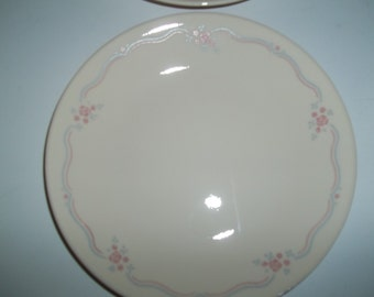 """Sale****4 Corelle English Breakfast Bread Plates 6 3/4"""", Made in the USA"""
