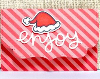 Gift Card Holder- Christmas Gift Card- Santa Hat- Holiday Gift Card- For Gift Card