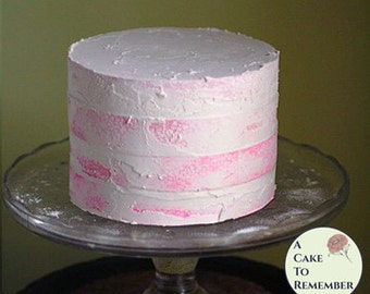 """6"""" round pink fake naked cake for photo shoots and home staging. Faux cake, naked wedding cake cupcake display, food prop. Engagement prop."""