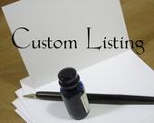 Custom Order Wedding Invitation for Becky G.
