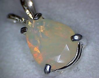 Beautiful Welo Opal Pear Pendant