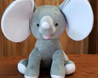Gray Dumble Cubbies Elephant Stuffed Animal Personalized Monogrammed
