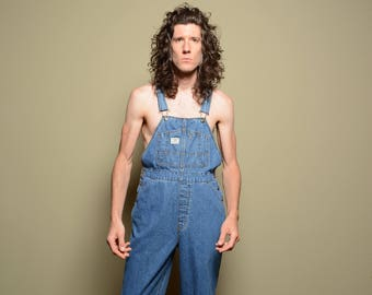vintage 90s overalls Union Bay Unionbay Authentic Clothing Co. 1990 vintage overalls M medium