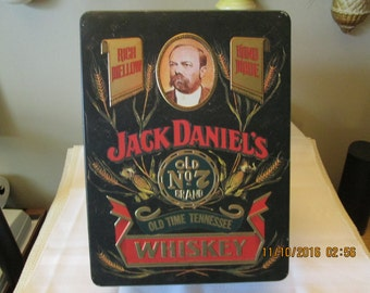 Vintage Jack Daniel's Old No 7 Brand Whiskey, Jack Daniel's Tin, Whiskey Tin, Storage Container, Barringer Wallis Manners, Mansfield England