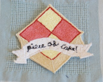 Piece of Cake Sew on Clothing Patch