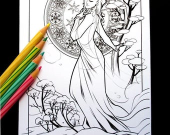 Winter Storm Colouring Sheet
