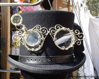 Articulated Bronze Steampunk Goggles