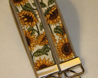 Key fob, Key chain, Wristlet - Sunflower - Select One