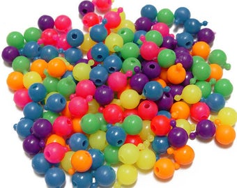 Multi Neon Colors Pop Snap Beads 12mm, 1gross/144pc