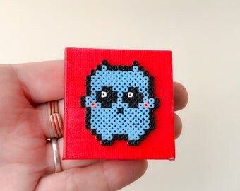 Mini Monster Hama Bead Painting
