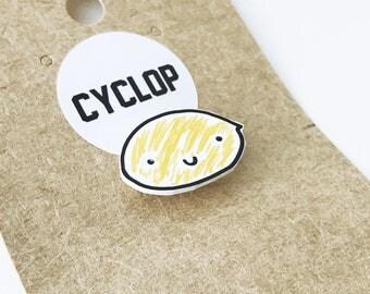 Lemon Shrink Plastic Pin