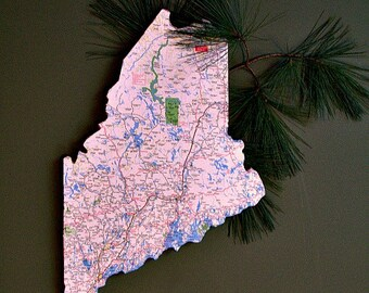 MAINE State Map Wall Art (Small size)