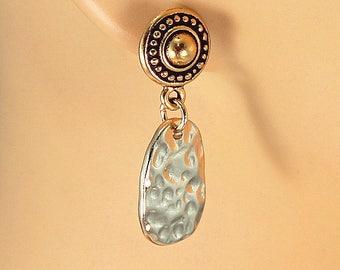 Gold earrings, gold dangles, hypoallergenic earrings, sensitive ears, classic gold earrings, post earrings