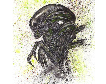"Alien 11x14 Art Print ""I Admire It's Purity"""