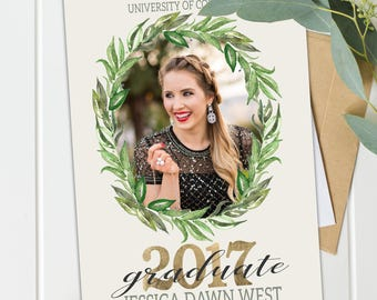 Graduation Invitation - Printable Graduation Announcement - Grad Announcement - Graduation Party Girl - High School / College Grad