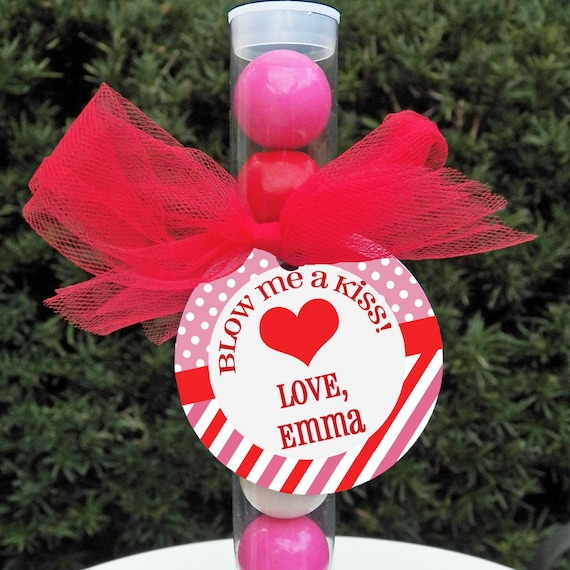 Personalized Valentine Tags Treat Tags Favor Tags Printable Or