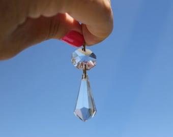 Vintage Bohemian Lead Chandelier Crystals 80 Pieces