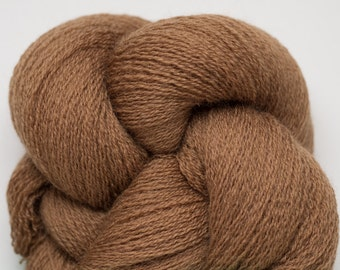 Nutmeg Brown Recycled Extra Fine Grade Lace Weight Merino Yarn, EFM00233