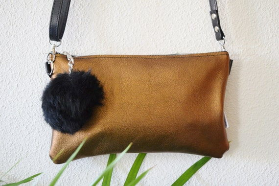 Leather handbag,golden leather bag,tassel clutch,tassel handbag,leather bags,shinny clutch,black tassel bag,crossbody bag,leather purse bag