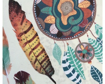 Bohemian Feather Dreamer Stickers
