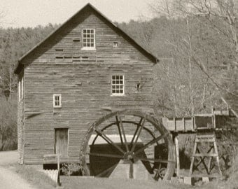 "From the ""Appalachian Scenic"" Series.  Black and White Mill"