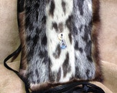 Extra Large Cel Purse in Seal and Sea Otter