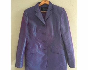 Purple Metallic Blazer