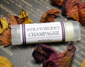 Strawberry Champagne Lip Balm - Flavored Oval Lip Balm - Soothing Lip Salve